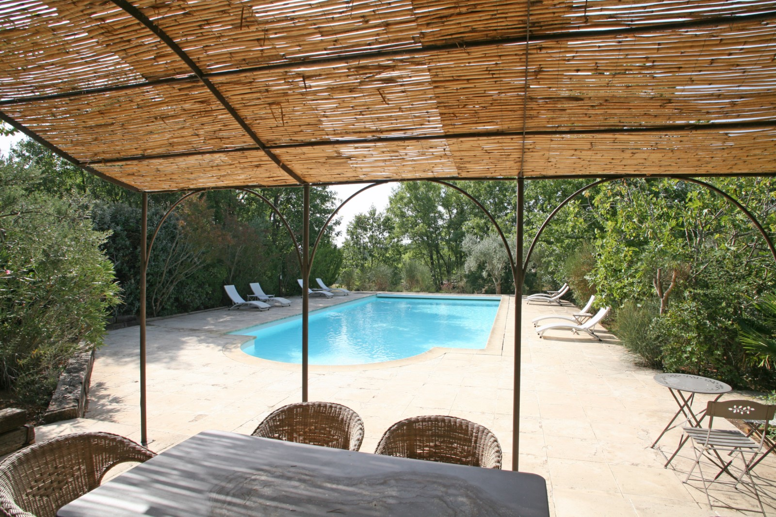 Covered Terrace and Pool